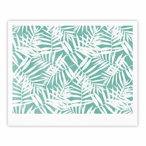 "Cafelab ""Water Tropicana Theme"" Teal White Illustration Fine Art Gallery Print"