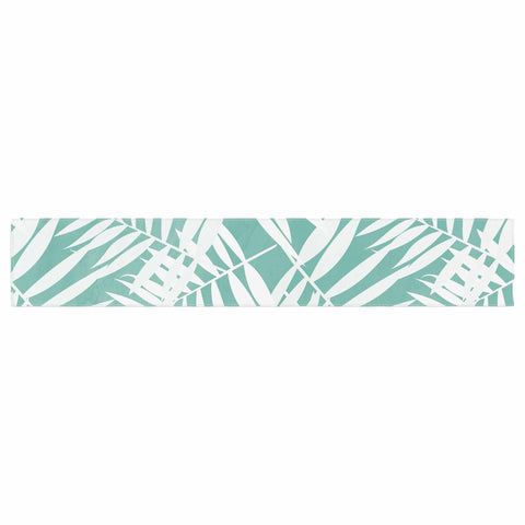 "Cafelab ""Water Tropicana Theme"" Teal White Illustration Table Runner"