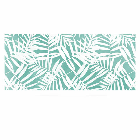 "Cafelab ""Water Tropicana Theme"" Teal White Illustration Luxe Rectangle Panel"