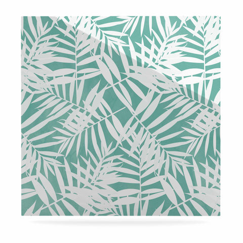 "Cafelab ""Water Tropicana Theme"" Teal White Illustration Luxe Square Panel"