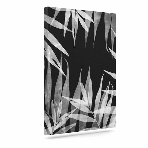 "Cafelab ""BW Tropicana Theme"" Black White Illustration Canvas Art"