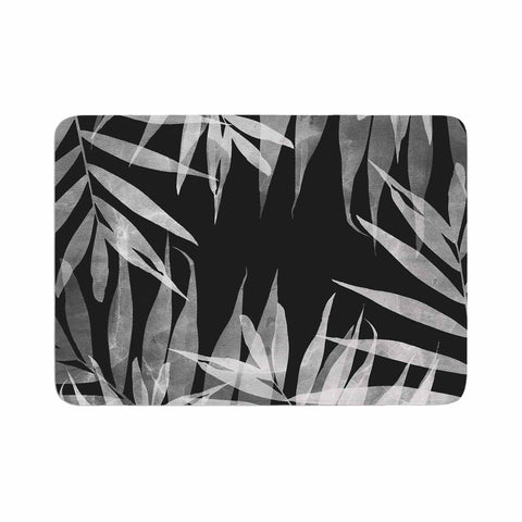 "Cafelab ""BW Tropicana Theme"" Black White Illustration Memory Foam Bath Mat"