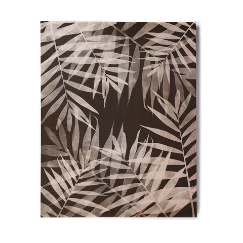 "Cafelab ""BW Tropicana Theme"" Black White Illustration Birchwood Wall Art"