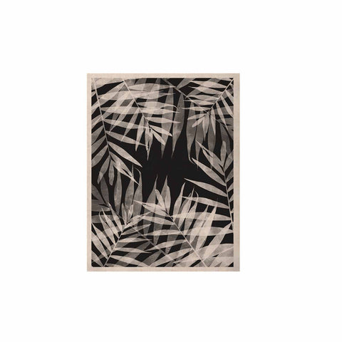 "Cafelab ""BW Tropicana Theme"" Black White Illustration KESS Naturals Canvas (Frame not Included)"