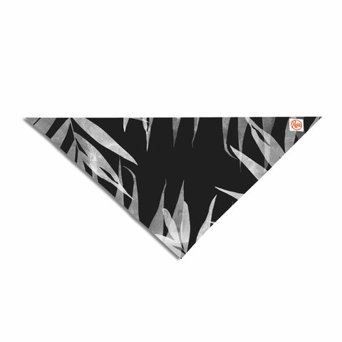"Cafelab ""BW Tropicana Theme"" Black White Illustration Pet Bandana"
