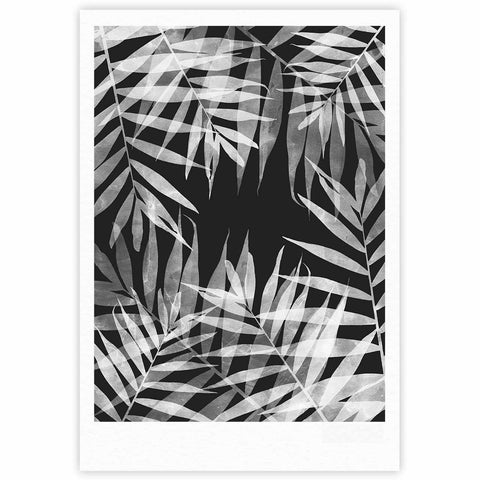 "Cafelab ""BW Tropicana Theme"" Black White Illustration Fine Art Gallery Print"