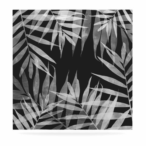 "Cafelab ""BW Tropicana Theme"" Black White Illustration Luxe Square Panel"