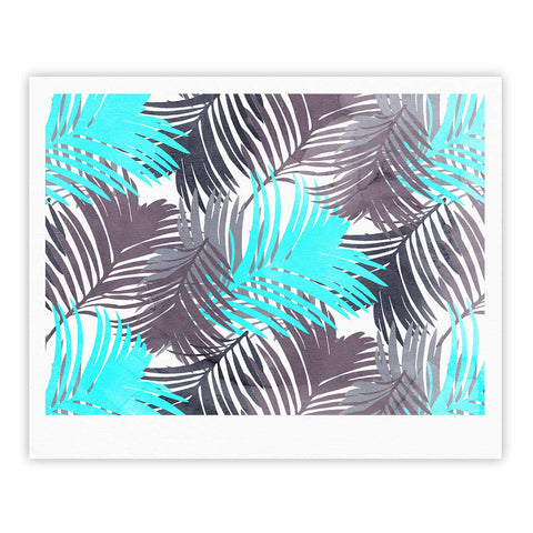 "Cafelab ""Jungle Pattern"" Blue Teal Mixed Media Fine Art Gallery Print"