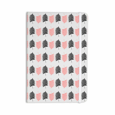 "Cafelab ""Ferns Pattern"" Pink Black Floral Nature Illustration Vector Everything Notebook"