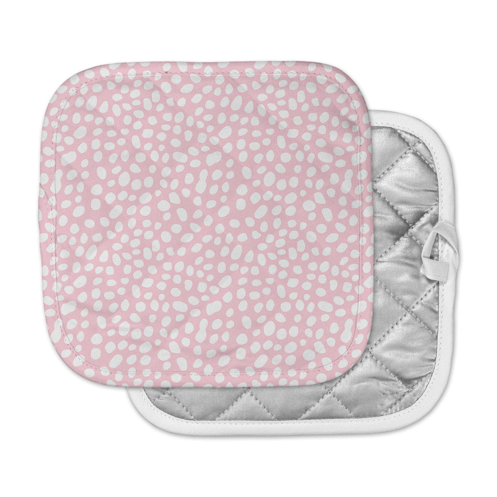 "Wildlife ""Pink Animal Print 4"" White Digital Pot Holder"