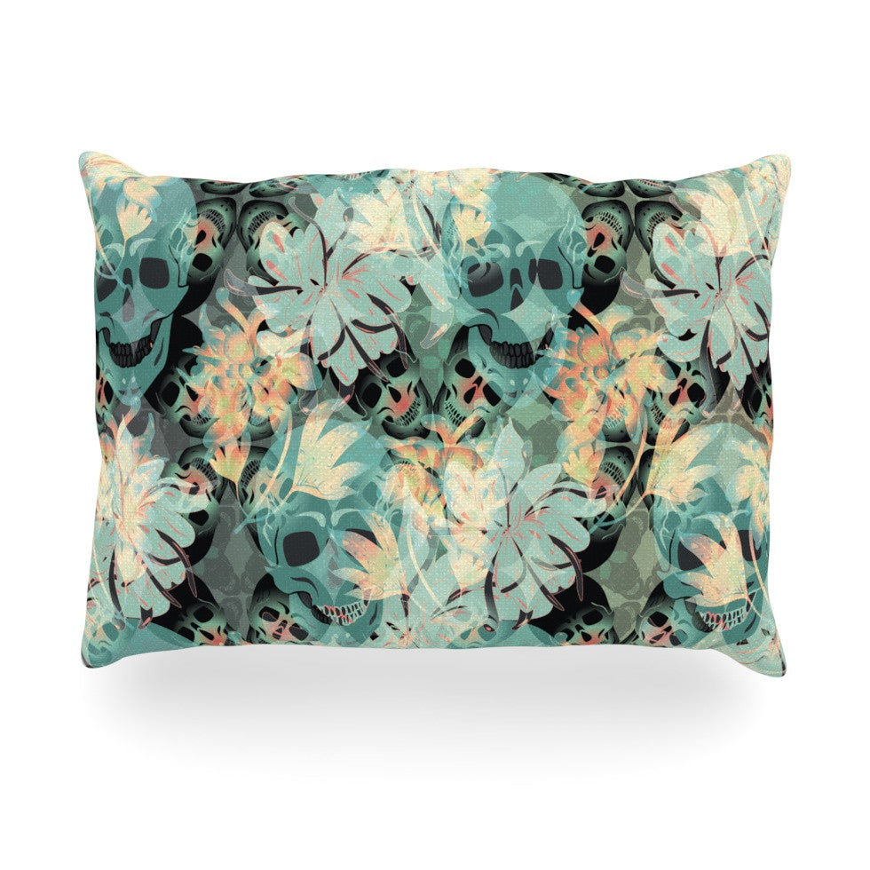 "Akwaflorell ""Dead's Head Party"" Oblong Pillow - KESS InHouse"