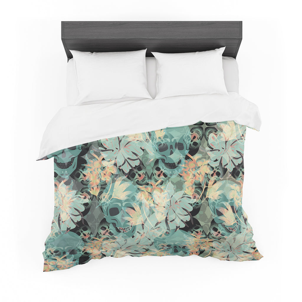 "Akwaflorell ""Dead's Head Party"" Featherweight Duvet Cover"