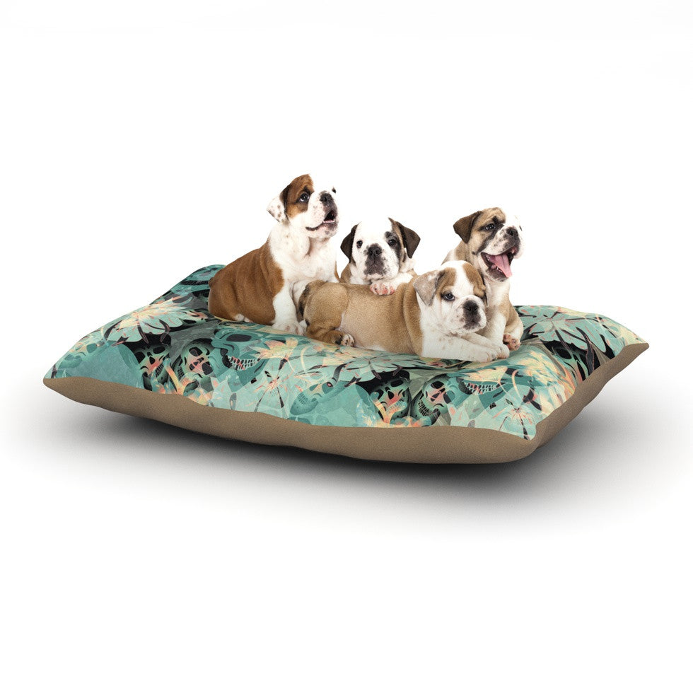 "Akwaflorell ""Dead's Head Party"" Dog Bed - KESS InHouse  - 1"