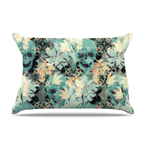 "Akwaflorell ""Dead's Head Party"" Pillow Sham - KESS InHouse"