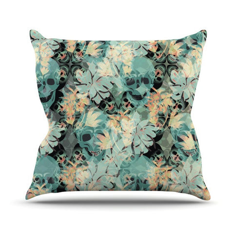 "Akwaflorell ""Dead's Head Party"" Outdoor Throw Pillow - KESS InHouse  - 1"