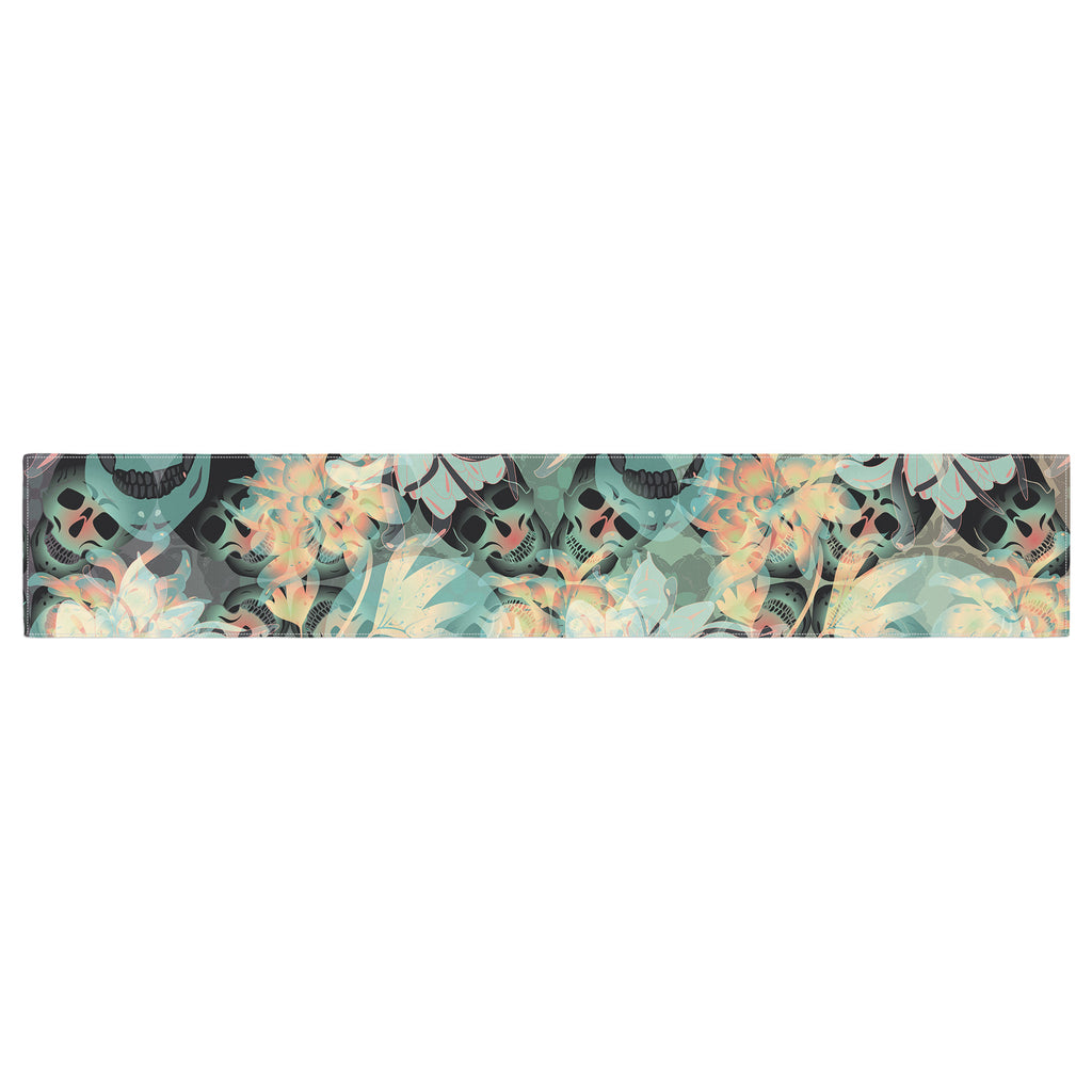 "Akwaflorell ""Dead's Head Party"" Table Runner - KESS InHouse  - 1"