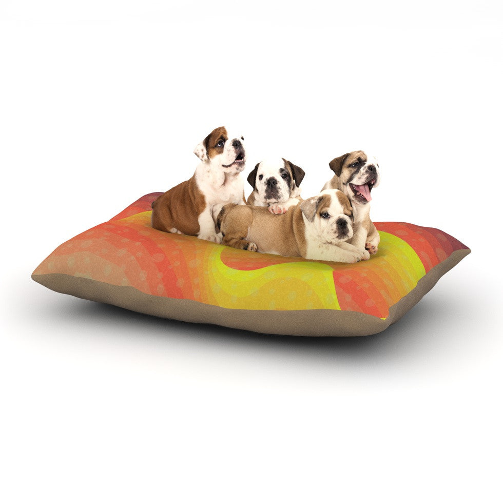 "Akwaflorell ""Waves Waves"" Dog Bed - KESS InHouse  - 1"