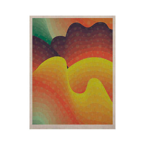 "Akwaflorell ""Waves Waves"" KESS Naturals Canvas (Frame not Included) - KESS InHouse  - 1"