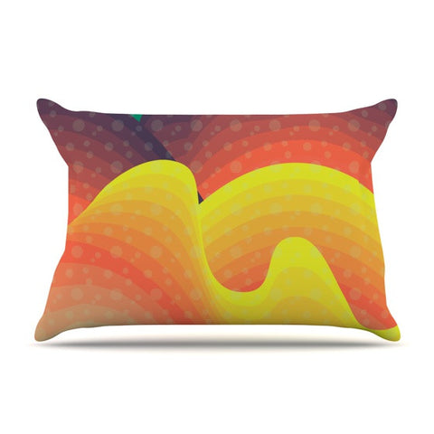 "Akwaflorell ""Waves Waves"" Pillow Sham - KESS InHouse  - 1"