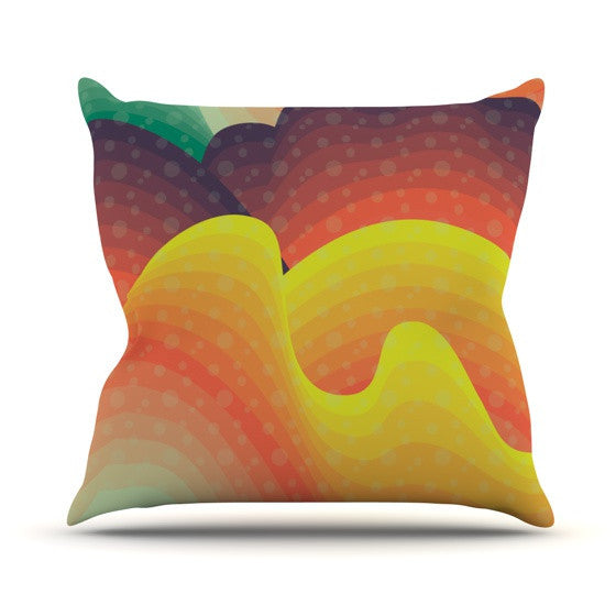 "Akwaflorell ""Waves Waves"" Outdoor Throw Pillow - KESS InHouse  - 1"