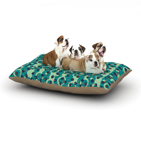 "Akwaflorell ""Bubbles Made of Paper"" Dog Bed - KESS InHouse  - 1"