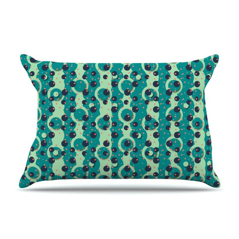 "Akwaflorell ""Bubbles Made of Paper"" Pillow Sham - KESS InHouse  - 1"