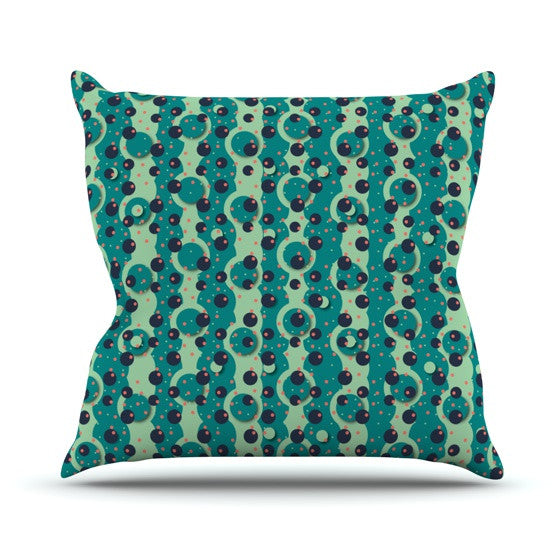 "Akwaflorell ""Bubbles Made of Paper"" Throw Pillow - KESS InHouse"