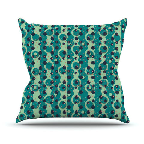 "Akwaflorell ""Bubbles Made of Paper"" Outdoor Throw Pillow - KESS InHouse  - 1"