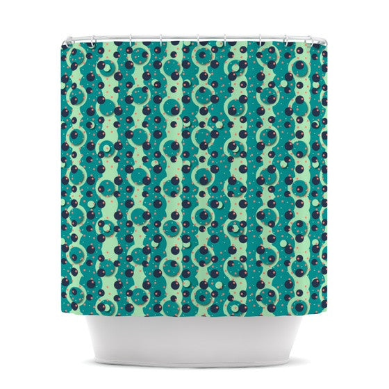 "Akwaflorell ""Bubbles Made of Paper"" Shower Curtain - KESS InHouse"