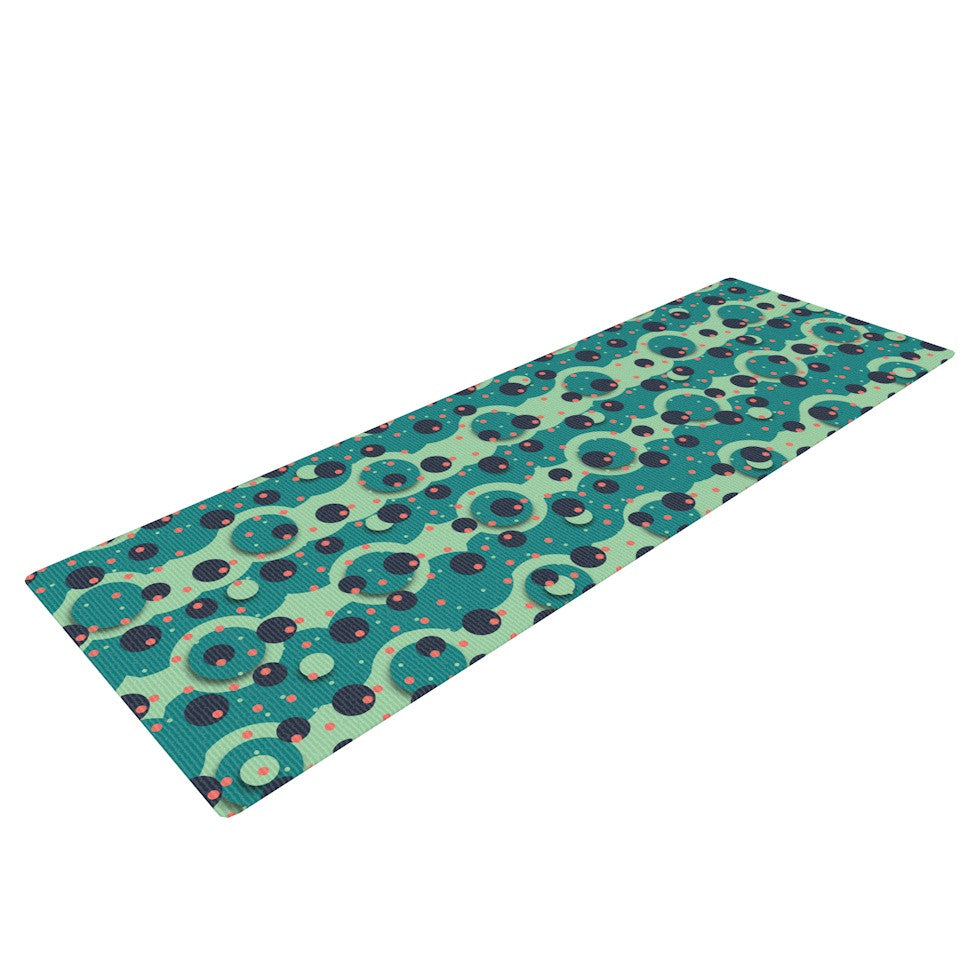 "Akwaflorell ""Bubbles Made of Paper"" Yoga Mat - KESS InHouse  - 1"