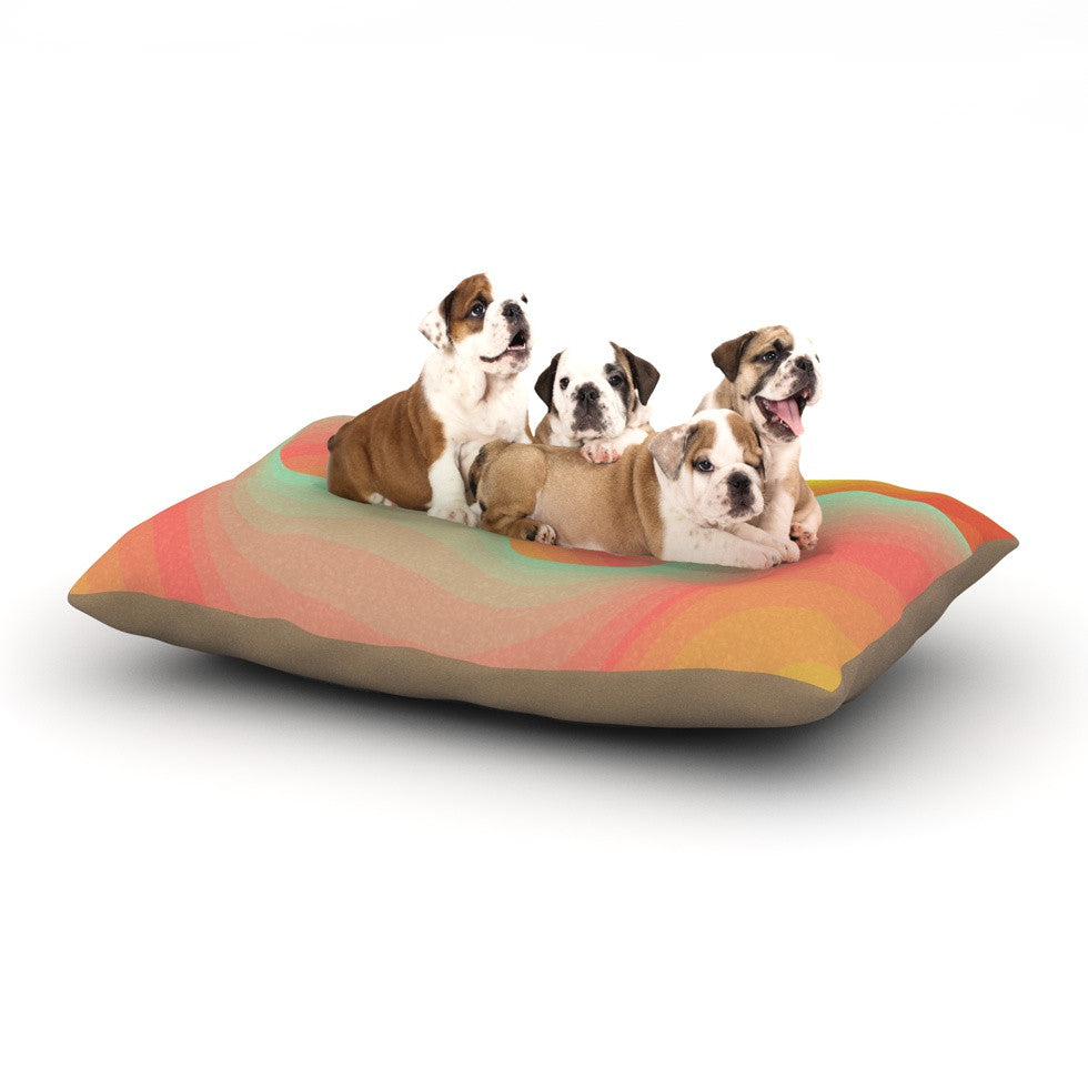 "Akwaflorell ""Way of the Waves"" Dog Bed - KESS InHouse  - 1"