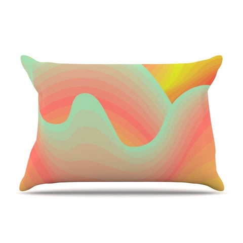 "Akwaflorell ""Way of the Waves"" Pillow Sham - KESS InHouse  - 1"