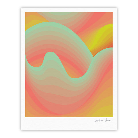 "Akwaflorell ""Way of the Waves"" Fine Art Gallery Print - KESS InHouse"