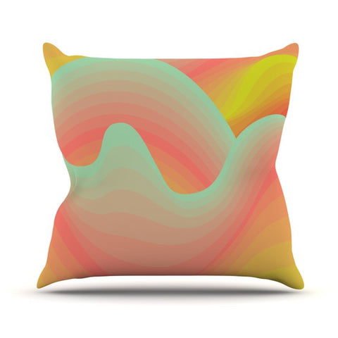"Akwaflorell ""Way of the Waves"" Outdoor Throw Pillow - KESS InHouse  - 1"