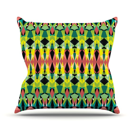 "Akwaflorell ""T-Vision"" Throw Pillow - KESS InHouse  - 1"