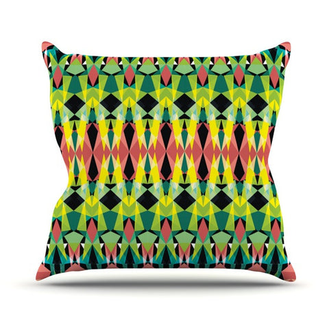 "Akwaflorell ""T-Vision"" Outdoor Throw Pillow - KESS InHouse  - 1"