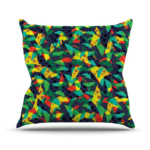 "Akwaflorell ""Fruit and Fun"" Outdoor Throw Pillow - KESS InHouse  - 1"