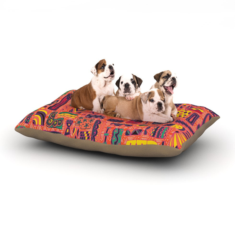 "Akwaflorell ""Squares"" Dog Bed - KESS InHouse  - 1"