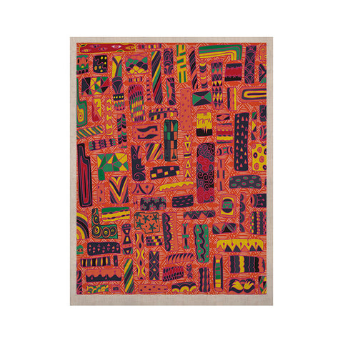 "Akwaflorell ""Squares"" KESS Naturals Canvas (Frame not Included) - KESS InHouse  - 1"