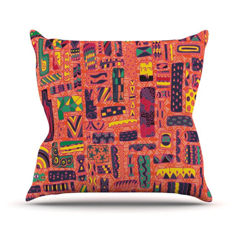 "Akwaflorell ""Squares"" Outdoor Throw Pillow - KESS InHouse  - 1"