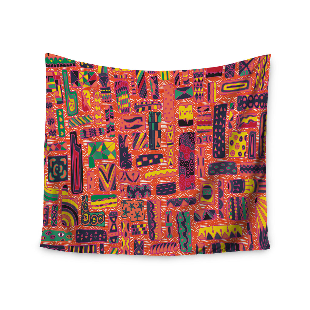 "Akwaflorell ""Squares"" Wall Tapestry - KESS InHouse  - 1"