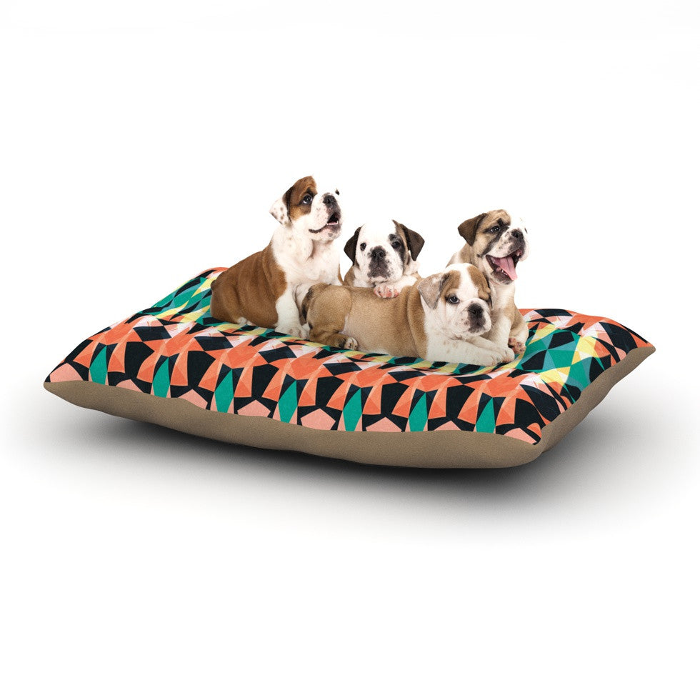 "Akwaflorell ""Triangle Visions"" Dog Bed - KESS InHouse  - 1"