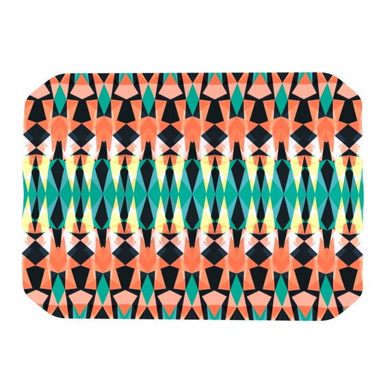 "Akwaflorell ""Triangle Visions"" Place Mat - KESS InHouse"