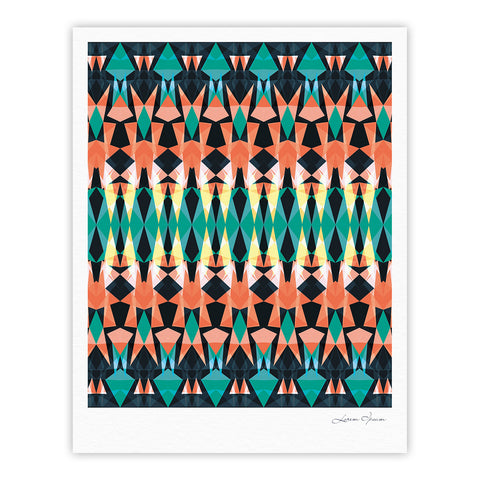 "Akwaflorell ""Triangle Visions"" Fine Art Gallery Print - KESS InHouse"