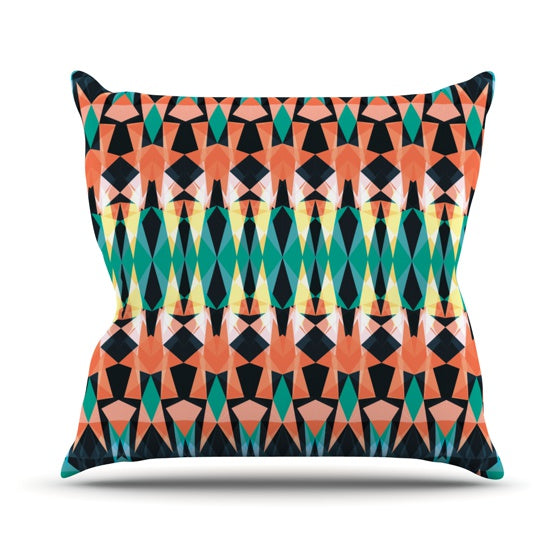 "Akwaflorell ""Triangle Visions"" Throw Pillow - KESS InHouse  - 1"