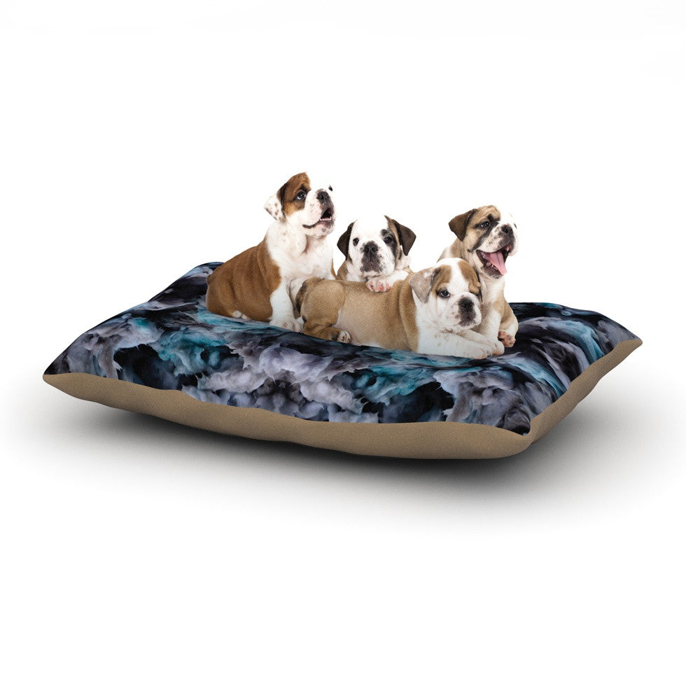 "Akwaflorell ""Abyss"" Blue Black Dog Bed - KESS InHouse  - 1"