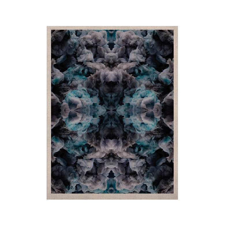 "Akwaflorell ""Abyss"" Blue Black KESS Naturals Canvas (Frame not Included) - KESS InHouse  - 1"