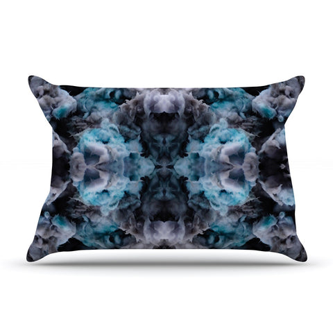 "Akwaflorell ""Abyss"" Blue Black Pillow Sham - KESS InHouse  - 1"