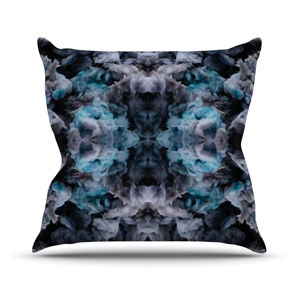 "Akwaflorell ""Abyss"" Blue Black Throw Pillow - KESS InHouse  - 1"
