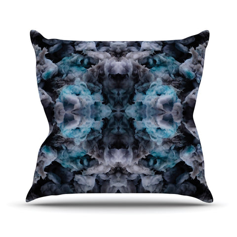 "Akwaflorell ""Abyss"" Blue Black Outdoor Throw Pillow - KESS InHouse  - 1"